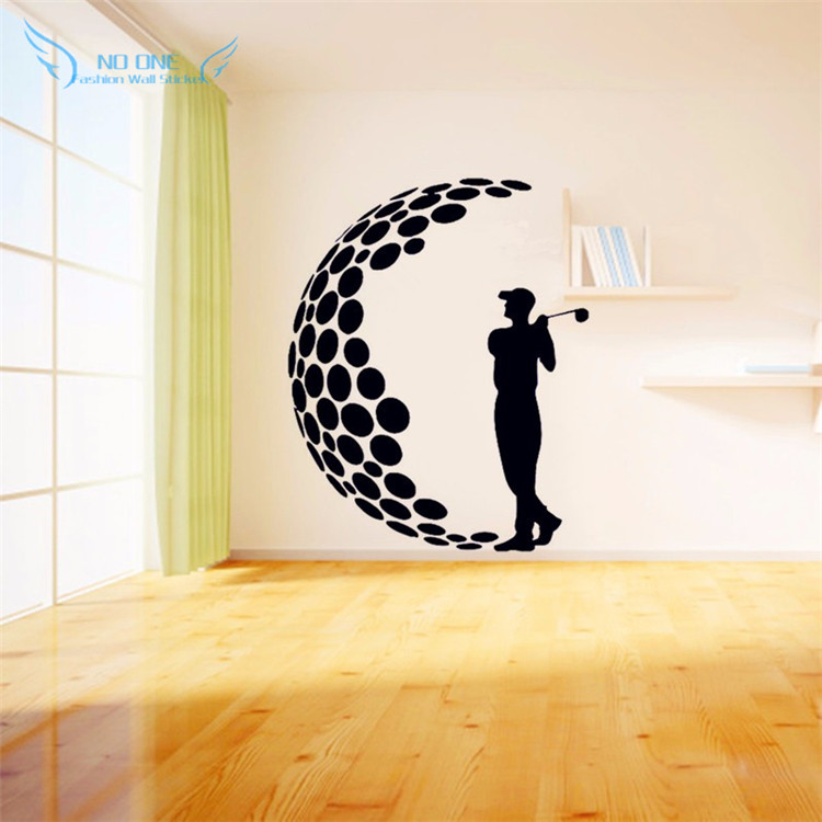 Buy play golf vinyl wall stickers 3d for Wall stickers for bedrooms interior design