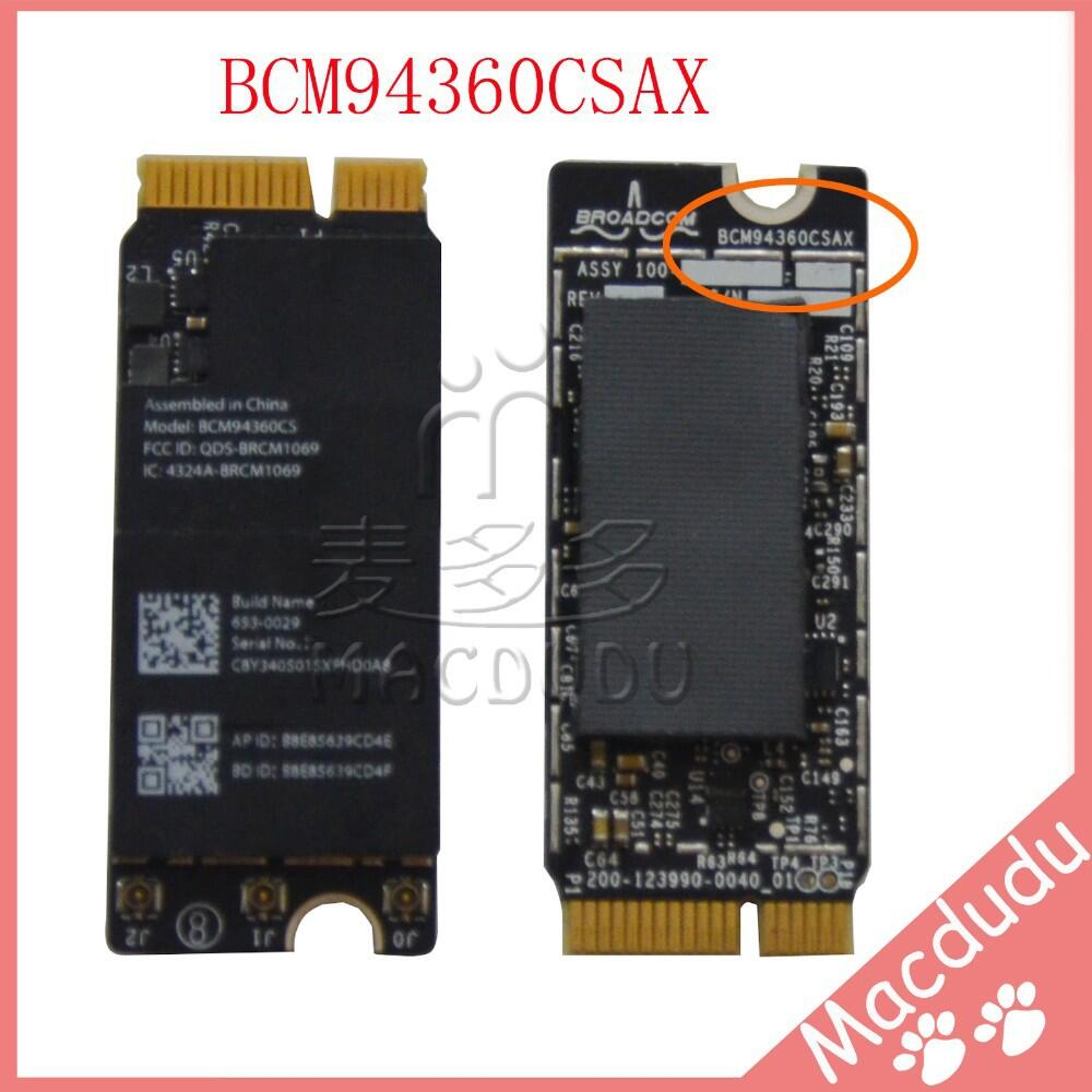 New Original BCM94360CSAX for Pro Retina A1425 A1502 A1398 Wifi card 802.11ac and Bluetooth 4.0 Airport Card 653-0029