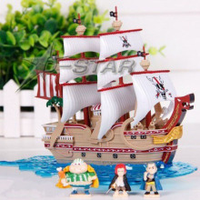 Free Shipping One Piece Anime Red Hair Shanks Red Force Pirate Grand Ship Model Boxed PVC Action Figure Collectioin Doll