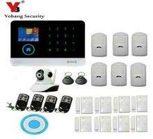 YoBang Security Wireless GSM WCDMA Burglar Alarm Kit Home Safety Alarm System With Video IP Camera + Smoke Fire Sensor System