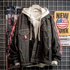 Image 5 - 男性 sのファッションデニムジャケット男性 sのカジュアルボンバージャケット男性 sのヒップホップ男性 sのレトロなデニムジャケットジャケットストリート 2020