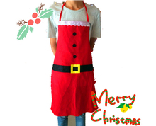 Novelty Christmas Apron Kitchen Non-woven Christmas Cooking Aprons for Woman Santa Claus Christmas Dinner Party Decorations цена