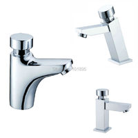 X10090 Luxury Brass Time Extending Faucet 4 Models Deck Mounted Self Closing Water Tap