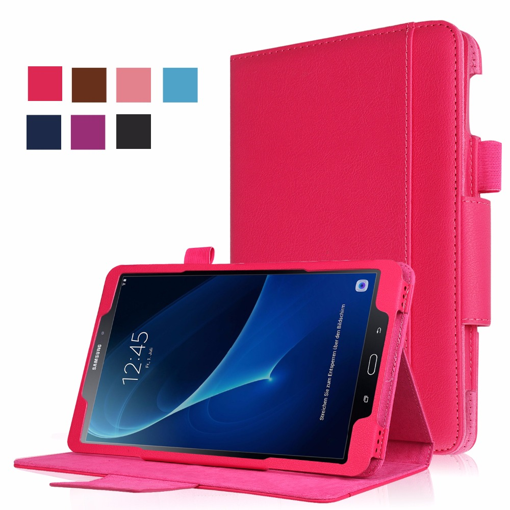 Flip Cover For Samsung Galaxy Tab A 10.1 2016 T585 T580 Tablet case Business Style (Can put keyboard)+screen protector+gift