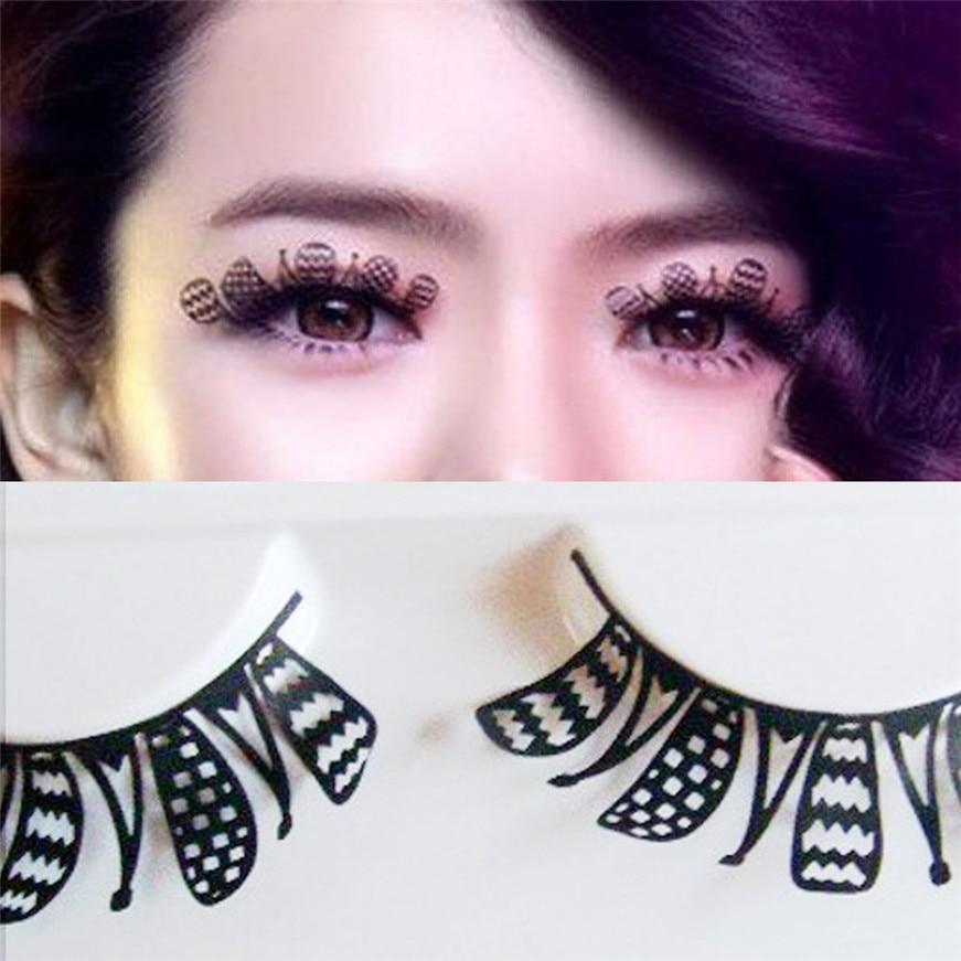 2017 A# Hot eyelashes Women Paper-Cut Art Style Paper Nightclub Stage False Eyelashes G