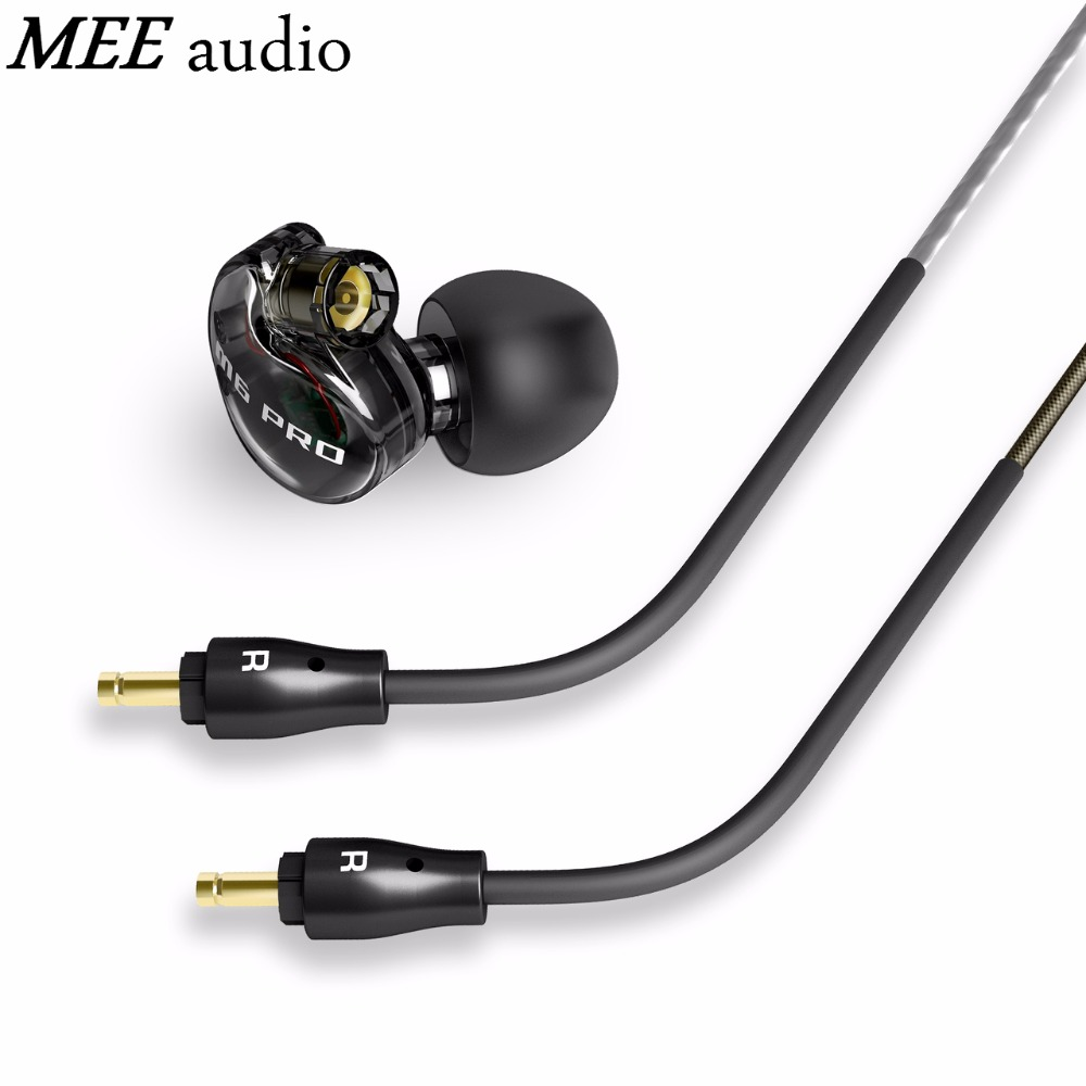 Original MEE audio Earphones Headphones M6 PRO Noise Isolating Music In ear Monitors Headset +Detachable Cables With Microphone dhl free 2pcs black white m6 pro universal 3 5mm wired in ear earphone noise isolating musician monitors brand new headphones