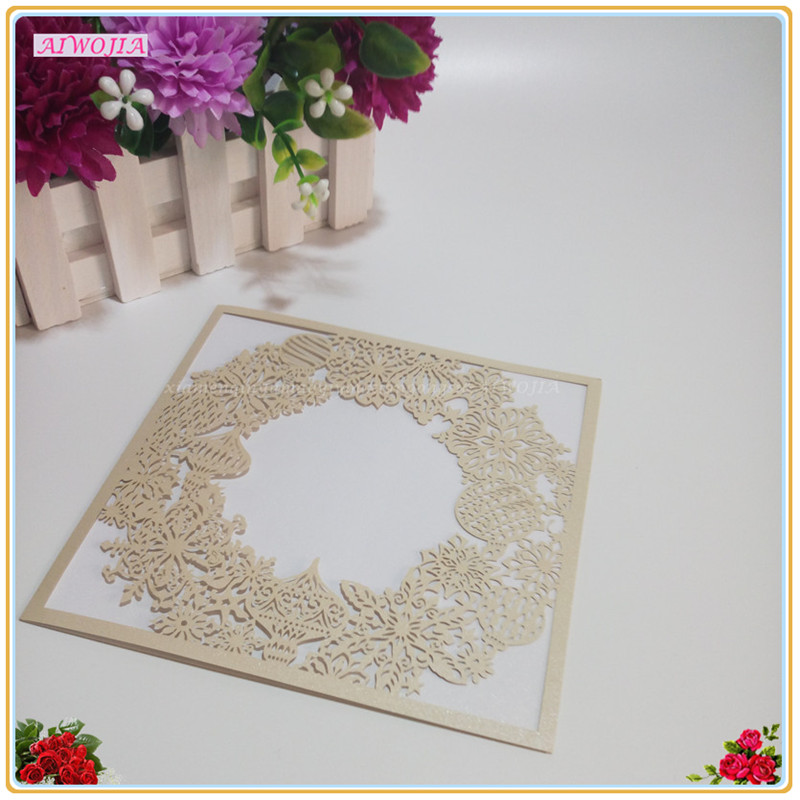 Wedding Invitations Business: 10pcs Hollow Round Pattern Invitation / Birthday Business