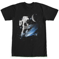 High Quality Casual Printing Tee Lost Gods Boombox Astronaut In Space Mens Graphic T Shirt