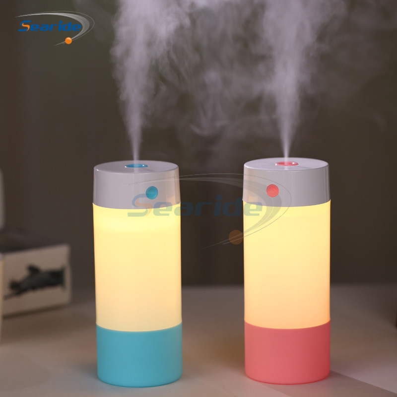 250ML Car air freshener Humidifier Car Mist Maker Fogger Water Diffuser Air Purifier with Warm White Led Night Light