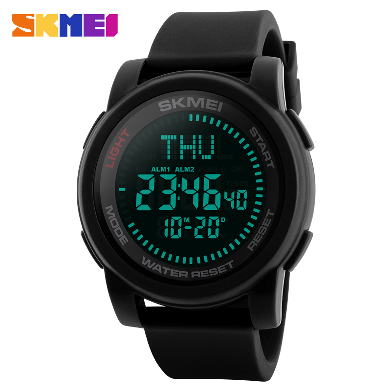 SKMEI Compass Sports Watches Men Outdoor World Time SummerTime Countdown Waterproof Watch Digital Wristwatches Relogio Masculino