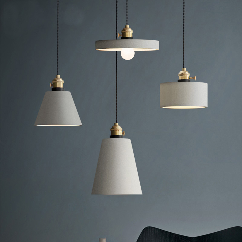Industrie Retro Nostalgie Zement Hängen Lampe Kreative Loft Eisen Pendelleuchte E27 Cafe Bar Lichttechnik Art Deco PL684 - 2