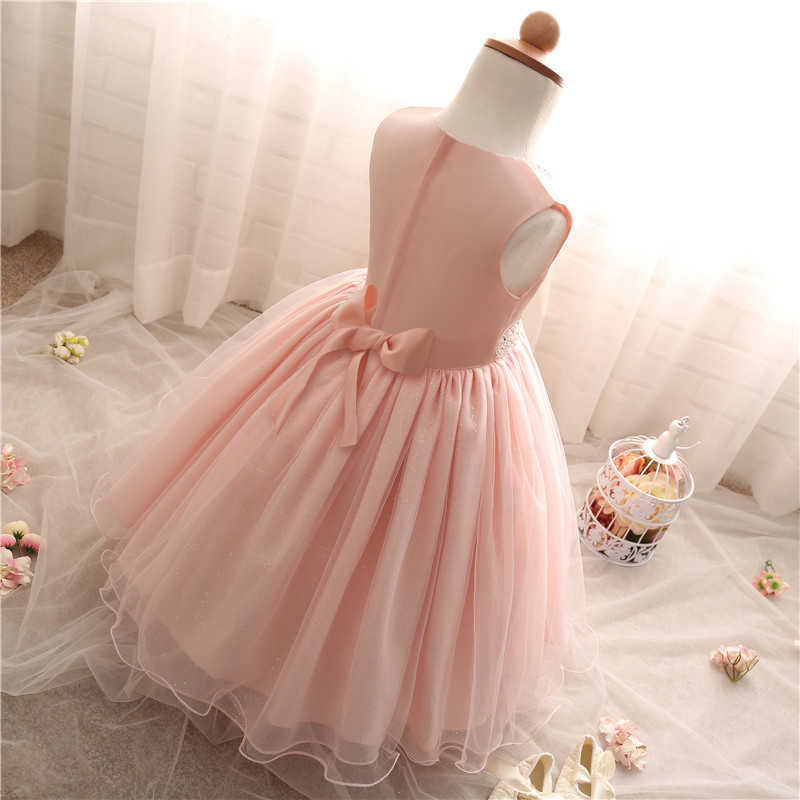 1641182cfba12 Infant Toddler Girls Dress Bebes Christening Gowns Pink Party Vestidos  Wedding Dresses For Baby Girls Clothes Formal Events Wear