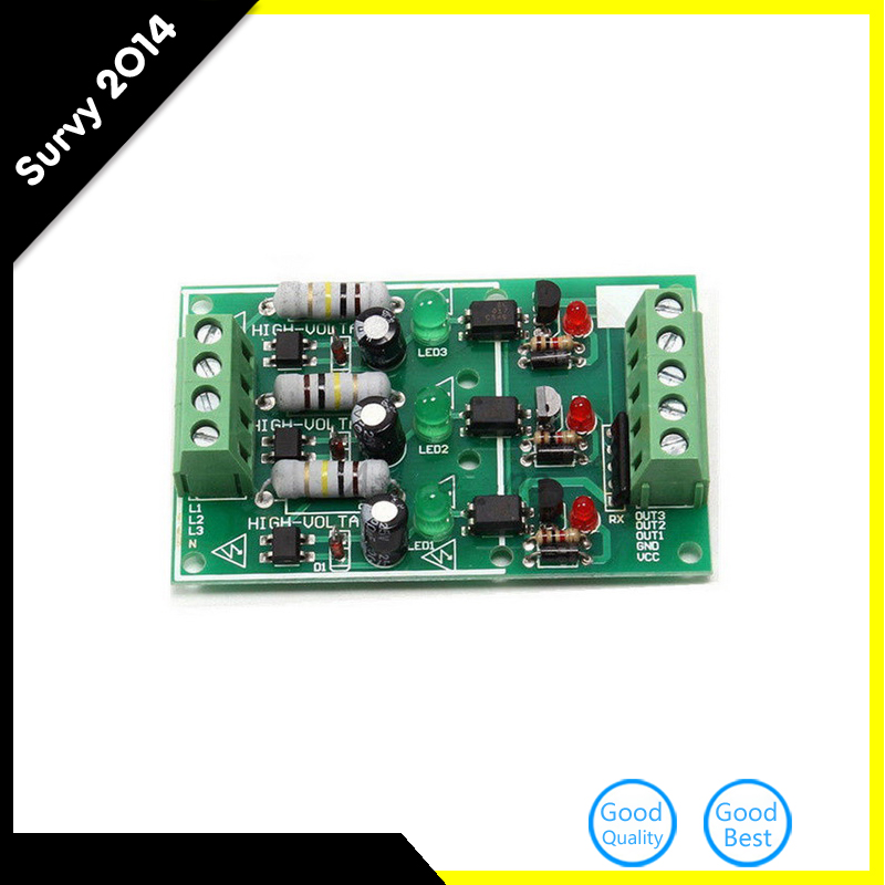 3-Channel Optocoupler Isolation Module Testing Module AC 220V No PCB Holder