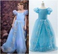 Sme dhl libera il lusso di qualità cenerentola all'ingrosso little girls principessa partito ballgown abiti da vacanza halloween usura cosplay
