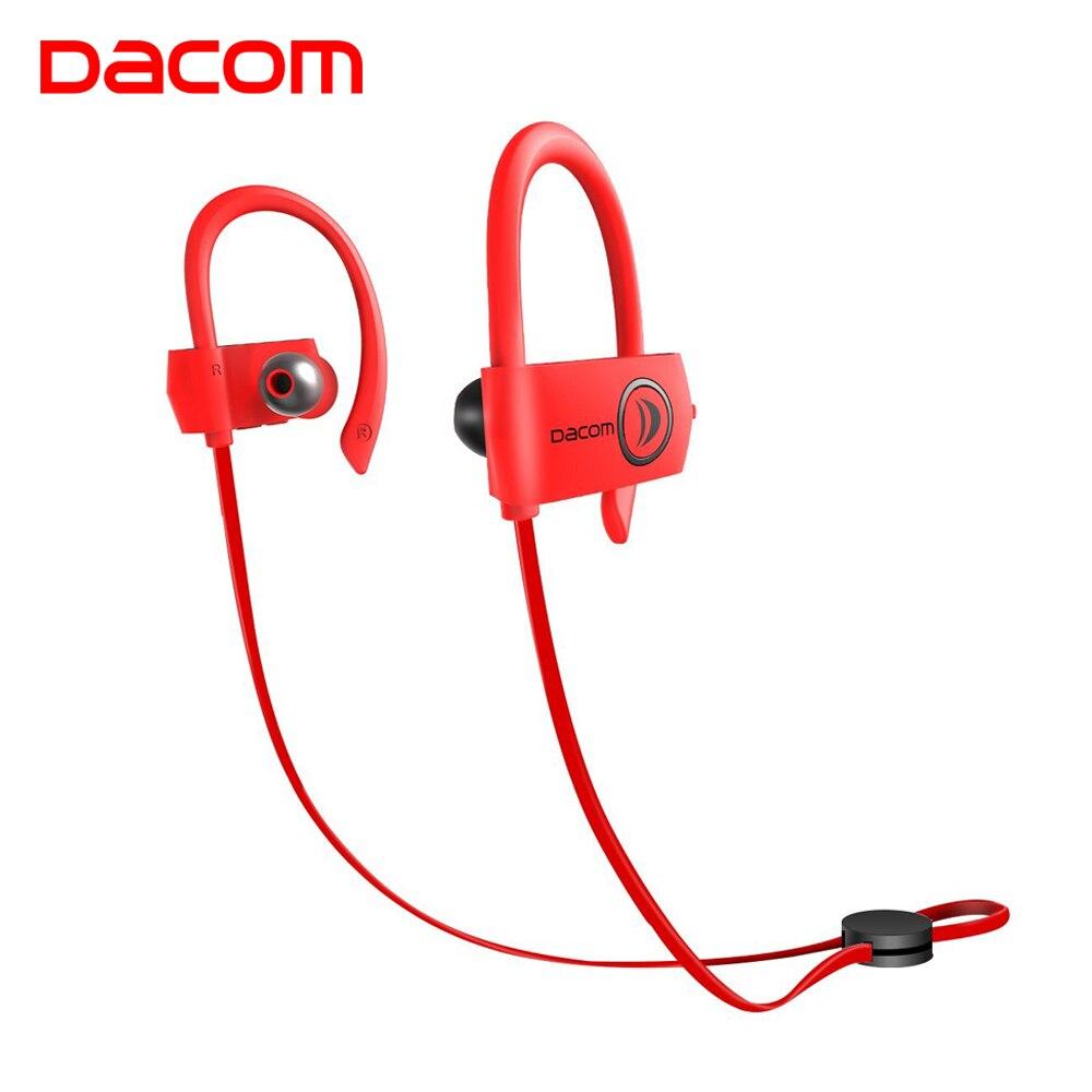 DACOM IPX7 Wireless Headphone 4.1 Sport Bass Bluetooth Earphone Noise Cancelling Headset Ear Hook Stereo Kulaklik for Running