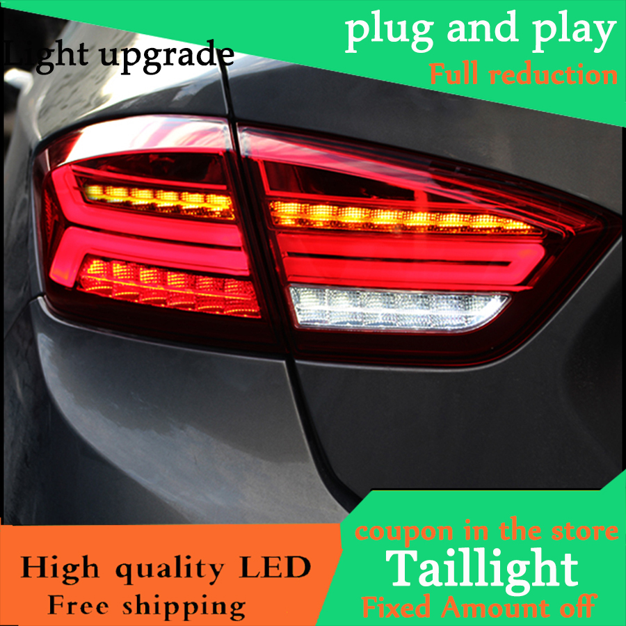 Car Styling TailLight Case For Chevrolet Cruze Sedan 2017 2018 Taillights LED Tail Lamp Rear Lamp