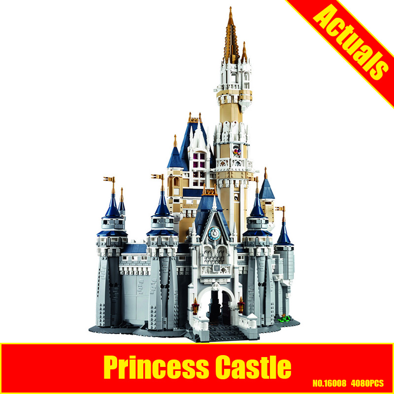 LEPIN 16008 Cinderella Princess Castle City set 4080pcs Model Building Block Kid DIY Toy Funny Birthday Gift Compatible 71040 new lepin 16008 cinderella princess castle city model building block kid educational toys for children gift compatible 71040
