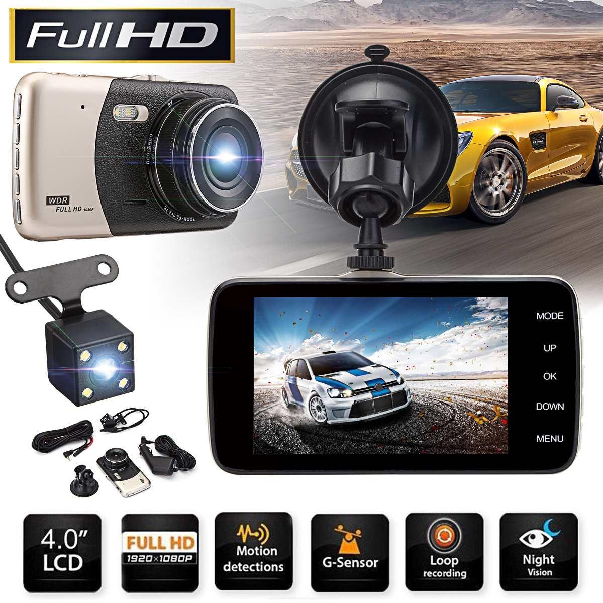 Video-Recorder Car-Dvr Dash-Camera Dual-Lens Night-Vision Full-Hd 4inch 1080P Dvrs Intelligent-System