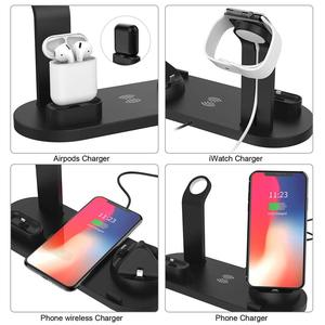 Image 5 - Wireless Charger Phone Holder Stand Dock Station For Apple Watch Series 5 4 3 2 Iphone 11 Pro Max XS MAX XR 8 X IWatch Airpods