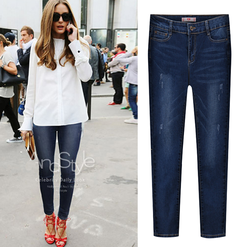 Hodisytian New Fashion Women Jeans High Waist Elastic Denim Capris Pencil Pants Stretch Trousers Pantalon Femme Plus Size 5XL plus size pants the spring new jeans pants suspenders ladies denim trousers elastic braces bib overalls for women dungarees