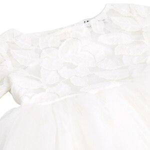Image 4 - Iiniim フラワーガールズドレスホワイトアイボリーリアル Vestidos パーティープリンセスドレスリトル子供子供の中空ハートドレス結婚式のための