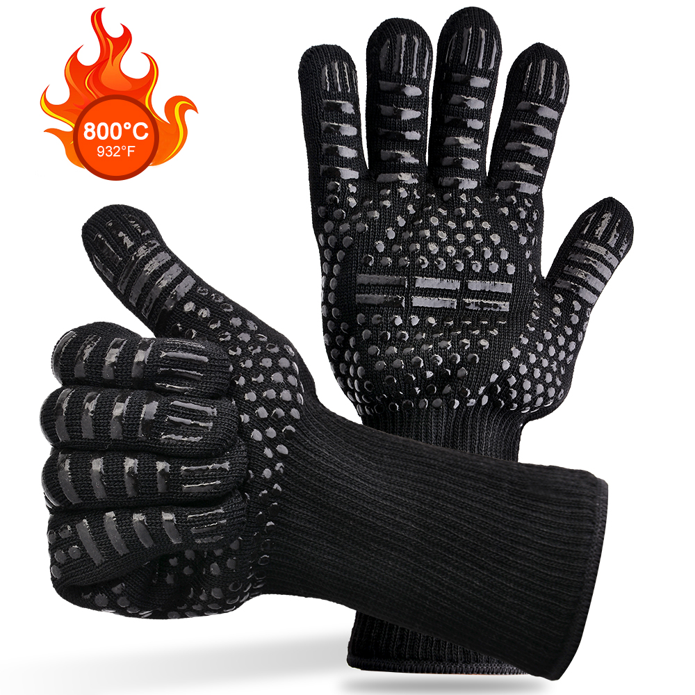 Potholders For kitchen glove BBQ the fireproof baking heat resistant silicone potholders holder pots for baking oven potholder heat resistant gloves