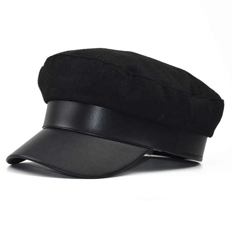 2eed48944 Fashion Lace Crown Wool hat cap women Casual streetwear rope flat cap  Elegant solid autumn winter warm beret hat female