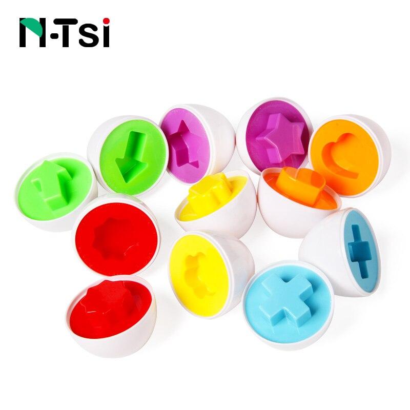 ntsi unids huevos medio partido juego de puzzles forma colores de la