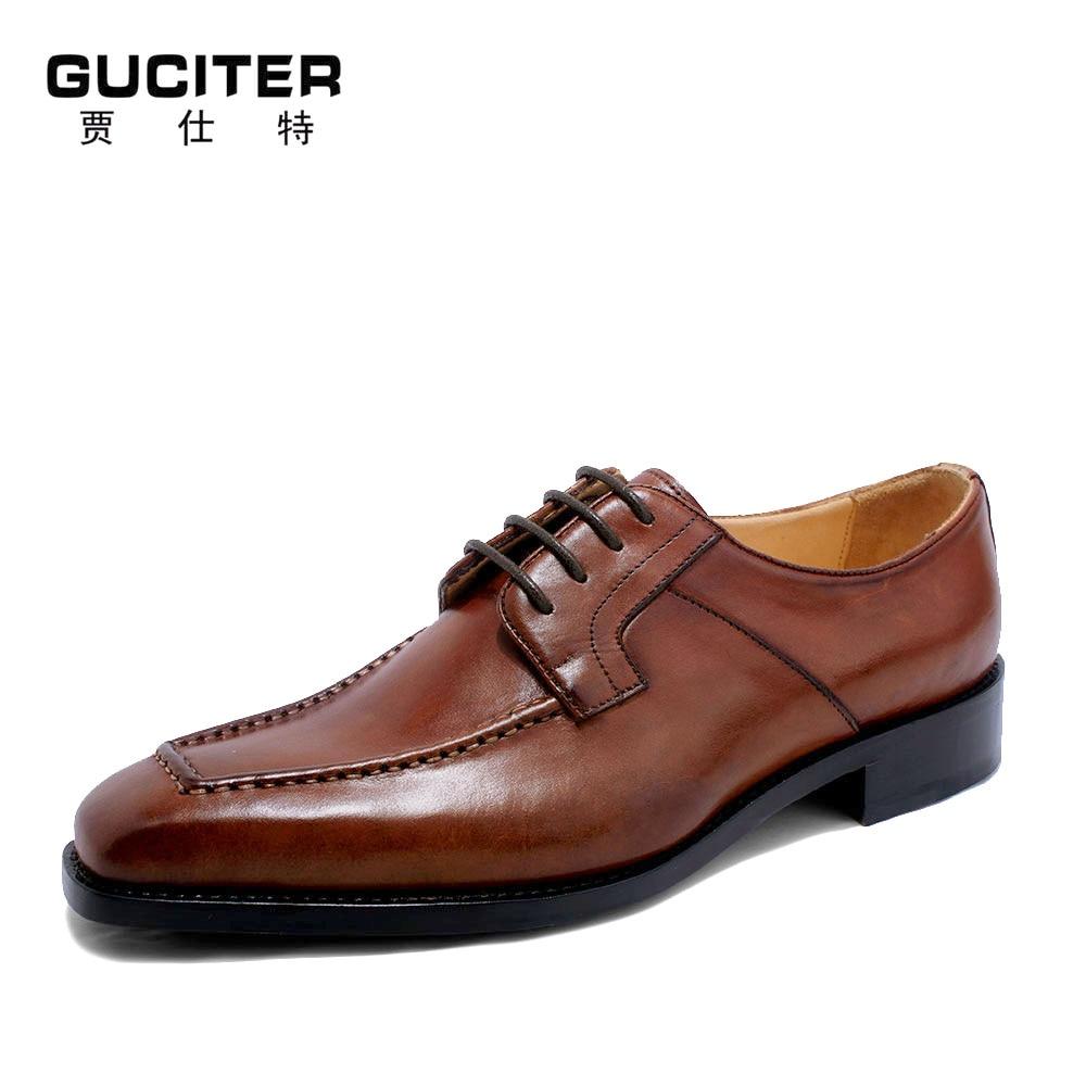Goodyear Craft Shoe Derby Free Shipping Custom Handmade Men's calf leather outsole Lacing Half-brogue color Red Brown Blake серьги maurizio mori серьги