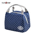 TANGIMP 2016 Insulated Lunch Bags New Portable Dotted Thermal Food Picnic Lunchbox for Women kids Men Cooler Tote sac repas