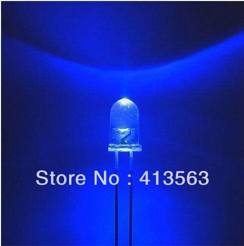 5 мм/f5 шляпа с подсветкой/-сине-белые волосы и Ярко синий светодиод/ светящиеся Диоды длинной ножке 1000 шт.