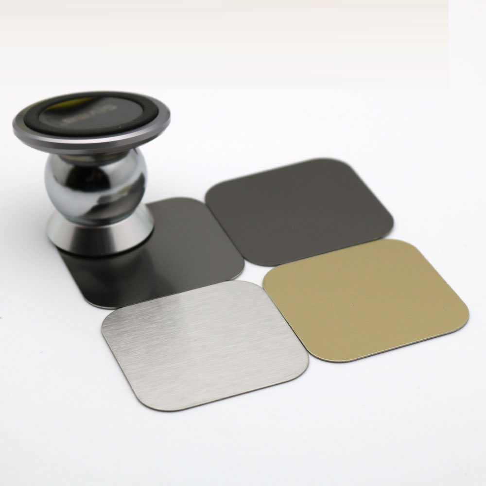 2pcs Universal 40x40mm matte Brushed Metal Plate disk iron sheet for iphone oppo Magnet Magnetic Car mobile Phone Stand holder