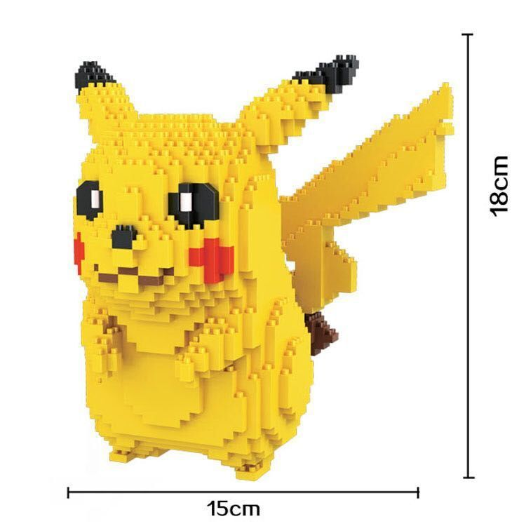 HC 9009 Pokemon go Pikachu Diamond Minifigures LOZ Bricks Diamond Building Blocks Toys Compatible with Legoe
