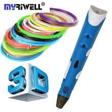 1.75 мм ABS/PLA DIY Smart 3D Ручка 3D Печать Рисунок Пером ручка Принтер С Свободной Нити Творческий Подарок Для Детей Дизайн живопись