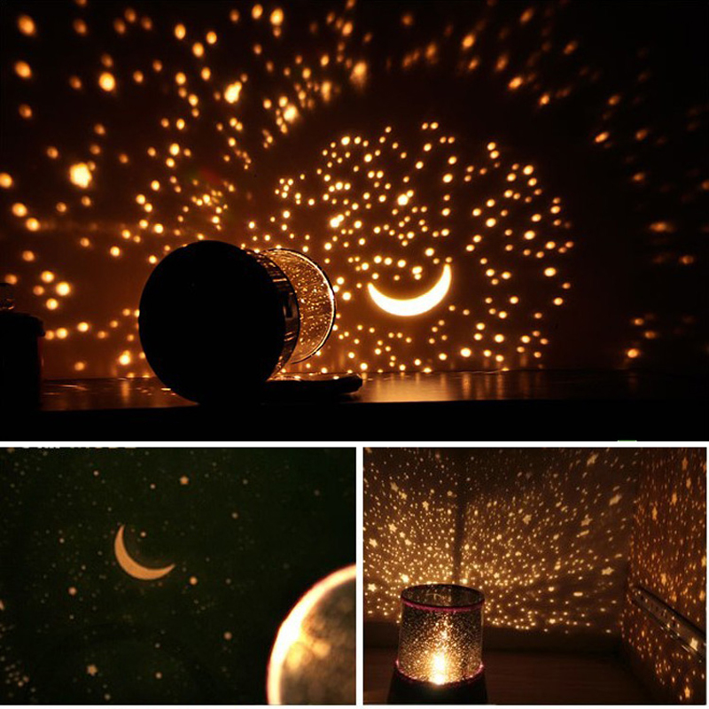 Lights & Lighting The Best Sky Star 4 Led Colorful Night Light Projector Lamp Gift