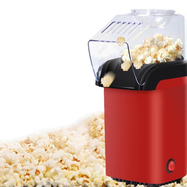 Мини электрический горячий воздух попкорн машина автоматическая красная Кукуруза Поппер натуральный попкорн домашнего использования бытовой для детей