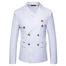 New Fashion Casual Men Blazer Cotton Slim Suit Blazer Masculino Male Suits Jacket Blazers Men