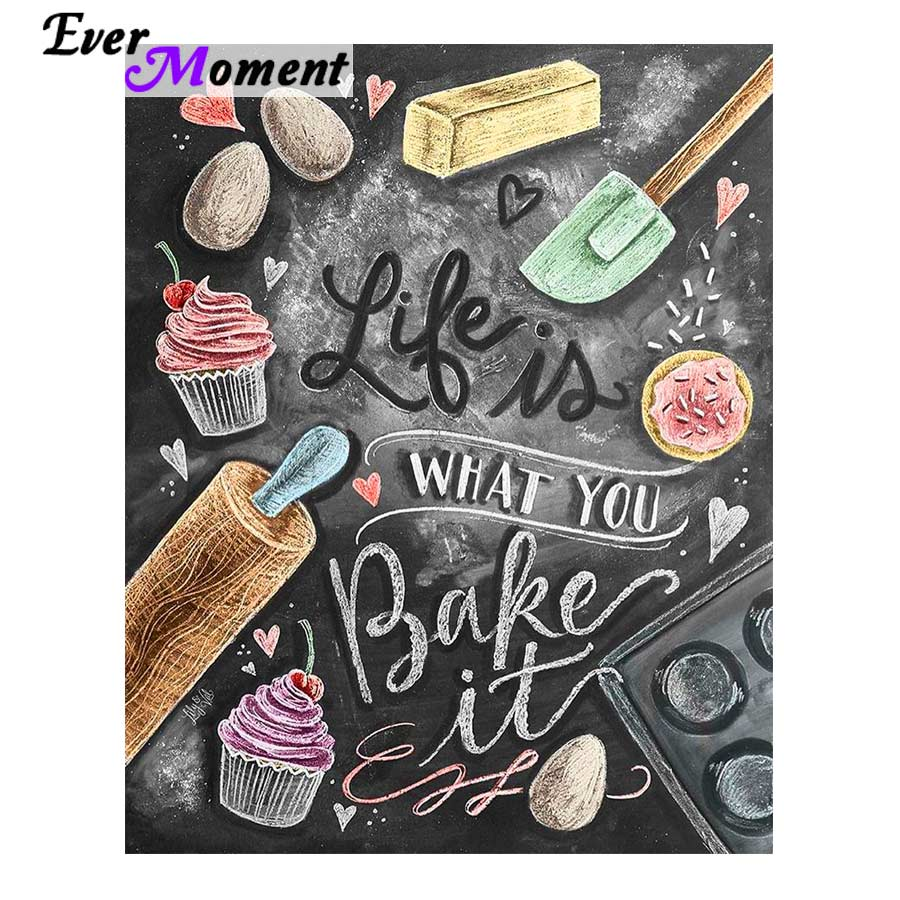 I Love You More Than Quotes: Aliexpress.com : Buy Life Is What You Bake It Diamond