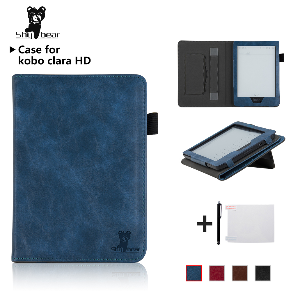 все цены на Smart Cover for New Kobo Clara HD 6 Inch EReader Ebook Case PU Leather Protective Case Auto wake/sleep +gifts