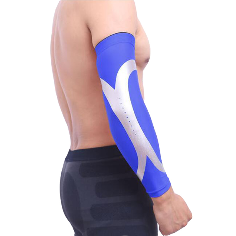 5d5606e3b1 1Pcs Breathable Quick Dry UV Protection Running Arm Sleeves Basketball  Elbow Pad Fitness Armguards Sports Cycling Arm Warmers-in Running Arm  Warmers from ...