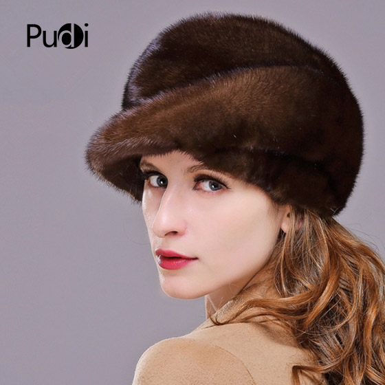 HM010 Real genuine mink fur hat winter women's warm caps whole piece mink fur hats Winter Cap hm017 real genuine mink fur hat winter hats for women whole piece mink fur hats winter cap