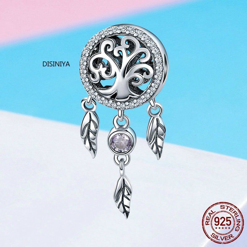 DISINIYA Sterling silver 925 mousetrap holder family tree feminine beads charming bracelets necklaces DIY jewelry SCC723 in Beads from Jewelry Accessories