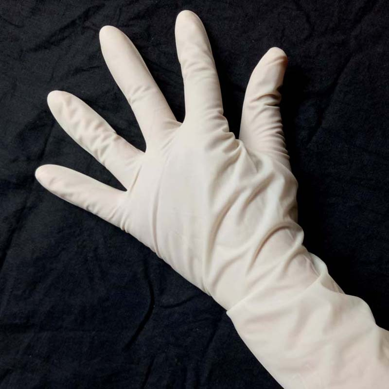 5Pairs Disposable gloves surgical gloves sterile surgery natural latex non-toxic comfortable and firm 5x10mm 10meter natural latex slingshots rubber tube tubing elastic surgical
