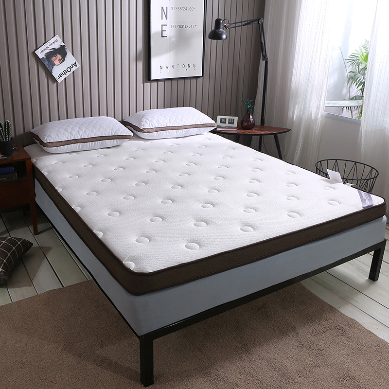 SongKAum New Fashion Quality Comfortable White/grey Bed Independent Quilting Memory Cotton Mattress For Knitted Fabrics Mattress