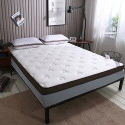 SongKAum nowy mody jakości wygodne biały/szary łóżko niezależne pikowania pamięci bawełniany materac dla tkaniny robione na drutach materac