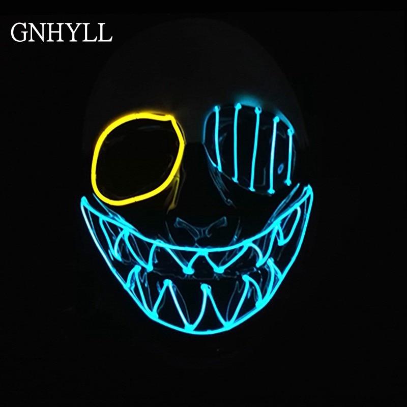 Lights & Lighting Led Lighting Independent El Wire Halloween Mask Skull Led Mask Flashing El Wire Festival Led Strip Neon Glowing Light Dance Dj Carnival Mask Various Styles