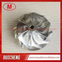 T04E 62.24/82.00mm 6+6 blades turbocharger billet/milling/alumimun 2024 compressor wheel