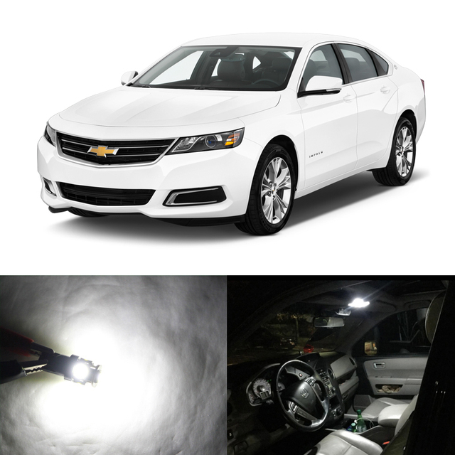 6pcs white canbus led interior package replacement light bulbs for 6pcs white canbus led interior package replacement light bulbs for chevrolet chevy impala 2014 2018 voltagebd Image collections