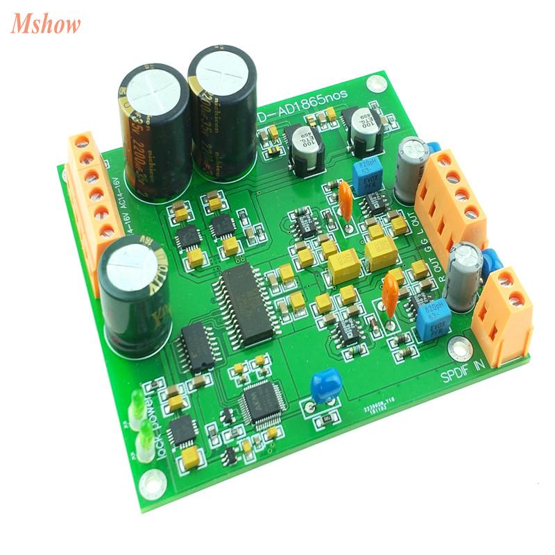 Assembled AD1865 Decoder Board R2R Decoding NOS Mode DAC 24bit 192K PCM1704 New