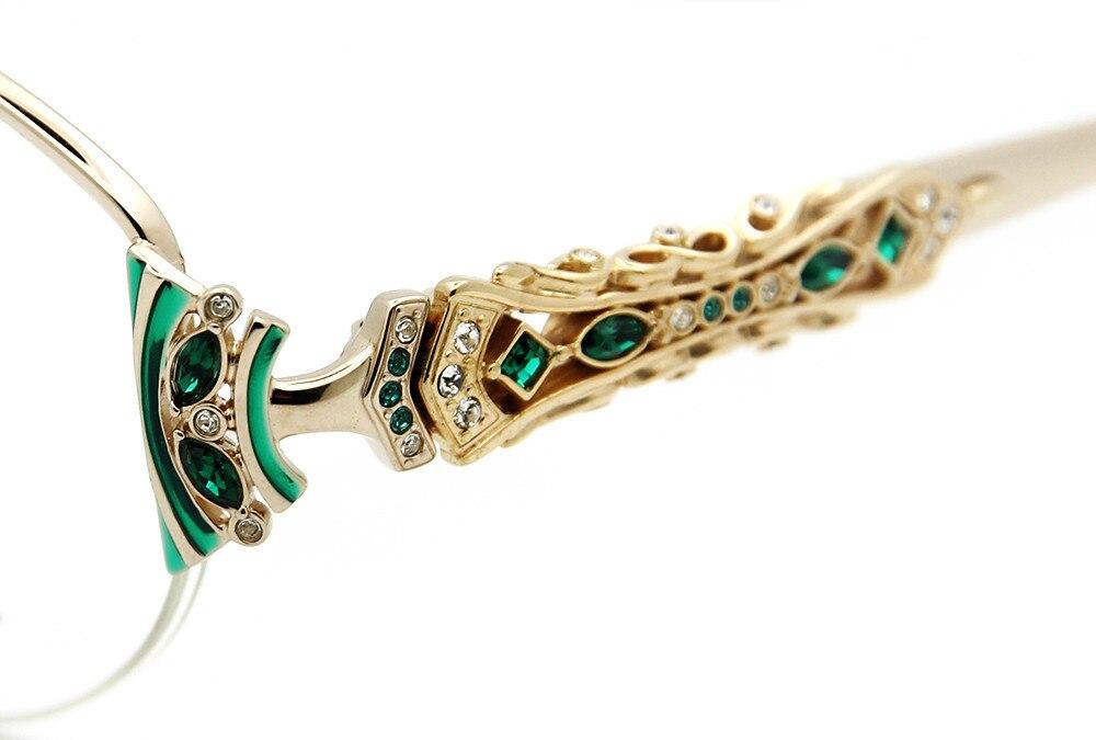 Livraison Gratuite Diamant Vision Auth Janpanse Fiat Lux D'origine Marque de Luxe avec ZirconTitanium Femmes Myopie Lunettes